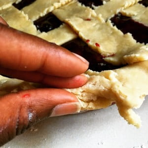 Cherry Mixed Berry Lattice Pie