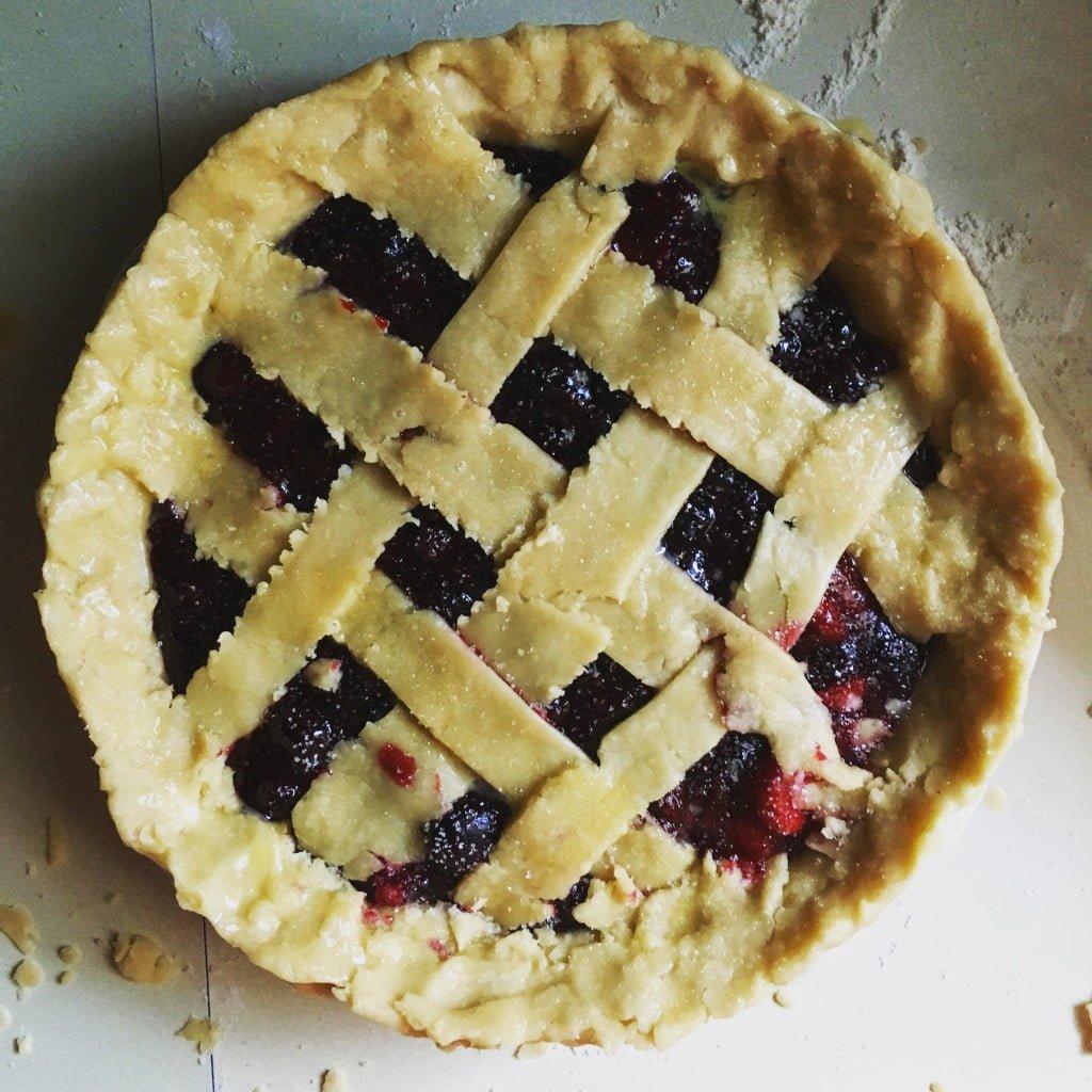 Cherry Mixed Berry Lattice Pie