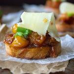 Bacon & Peach Bruschetta with Habenero Cheese