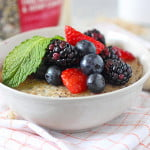 Steel Cut Oatmeal Brulee with Berries