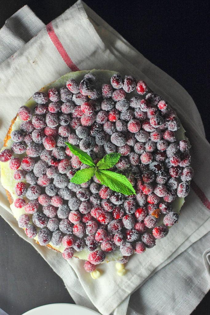 White Chocolate Cranberry Cheesecake