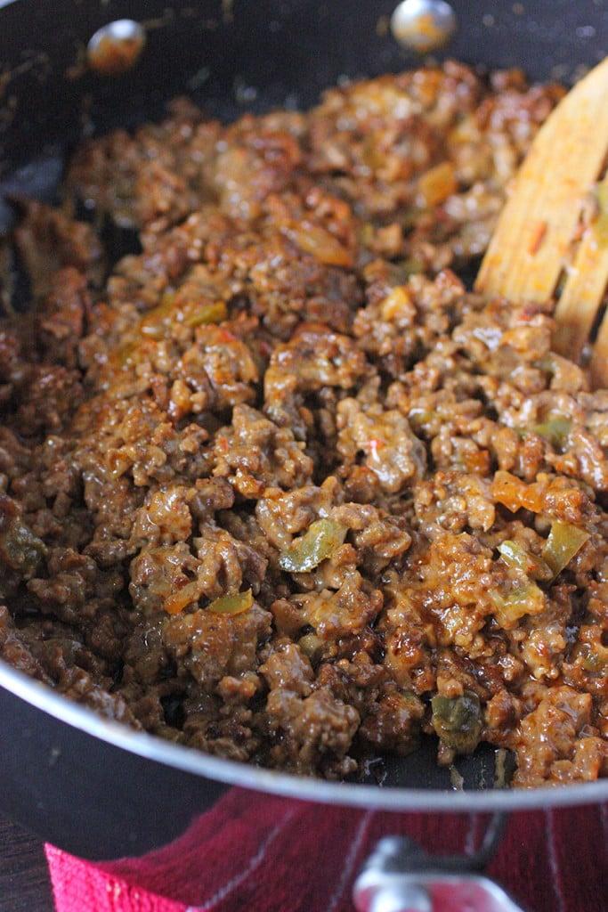 Cheesy Mexican Sloppy Joes Recipe