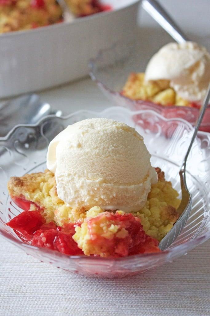 Lemon and Cherry Dump Cake
