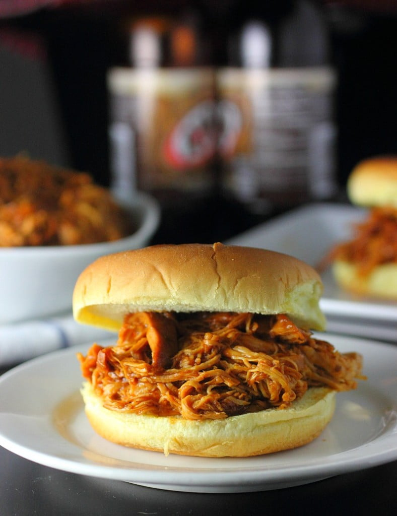 Slow Cooker BBQ Rootbeer Chicken