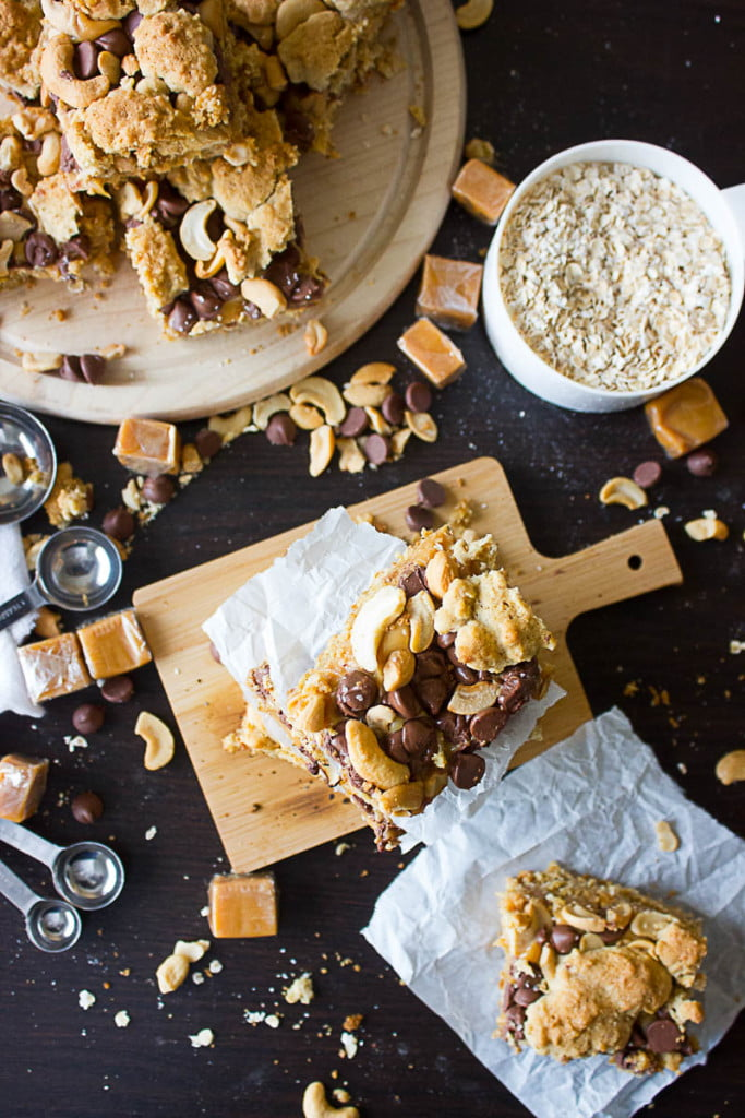 Salted Chewy Caramel Bars