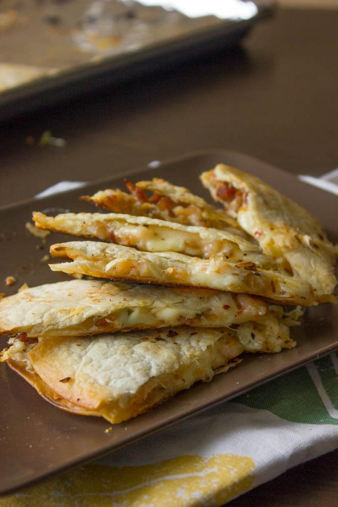 Easy Quesadilla Recipe with Bacon and Shrimp