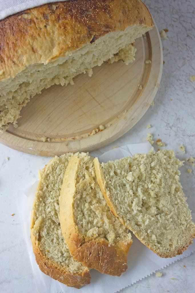 Crockpot Bread Recipe with Rosemary