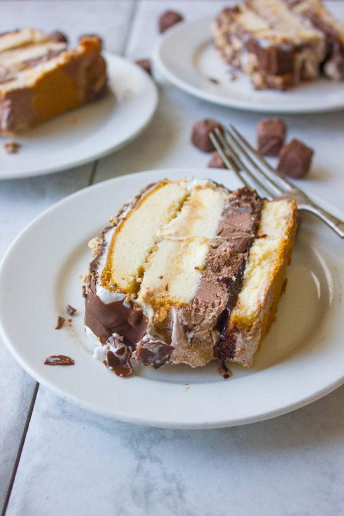 Snickers Ice Cream Cake