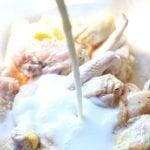 How to Make Homemade Fried Chicken- chicken in buttermilk