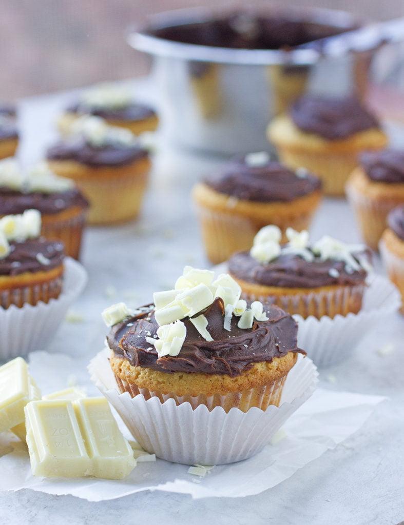 White & Black Cupcake Recipe