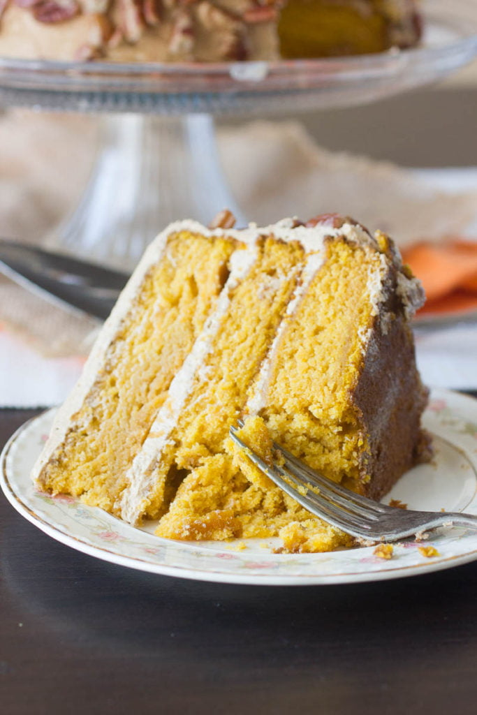 3 Layer Pumpkin Cake with Maple Buttercream Frosting