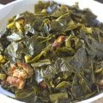 A bowl of southern collard greens.