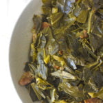 a bowl of southern collard greens