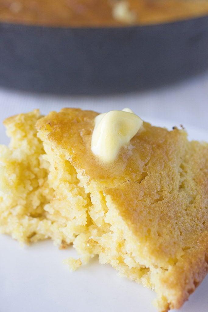 Skillet Buttery Cornbread Recipe | Brown Sugar