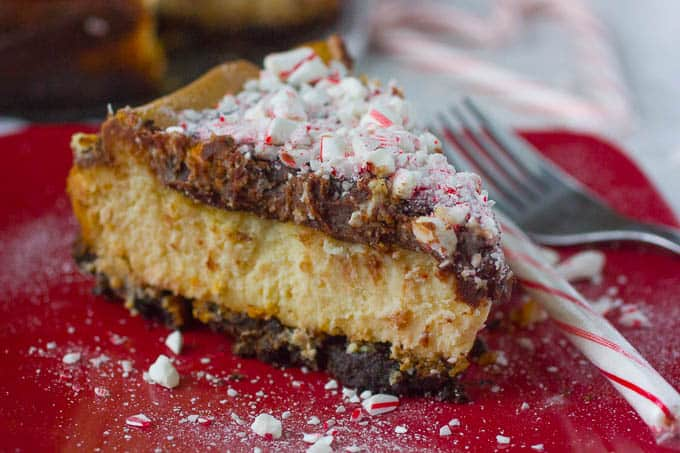 Double Chocolate Peppermint Cheesecake