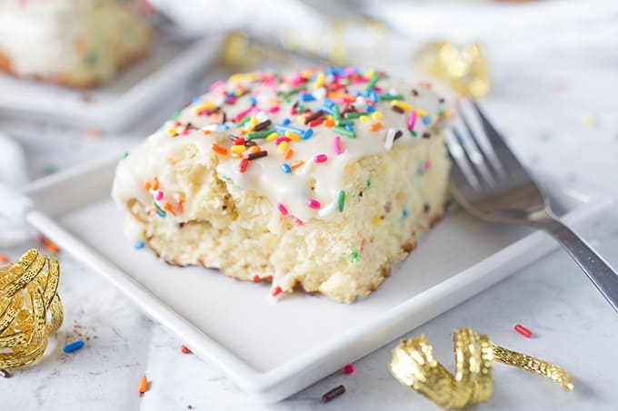 Homemade Funfetti Sheet Cake Recipe