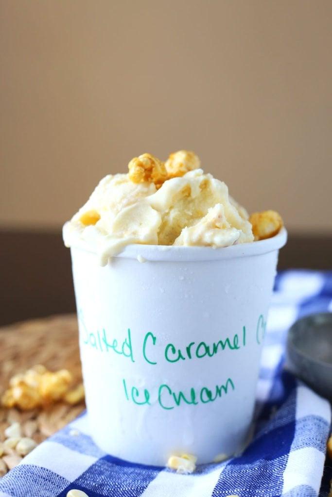Salted Caramel Corn Ice Cream Recipe