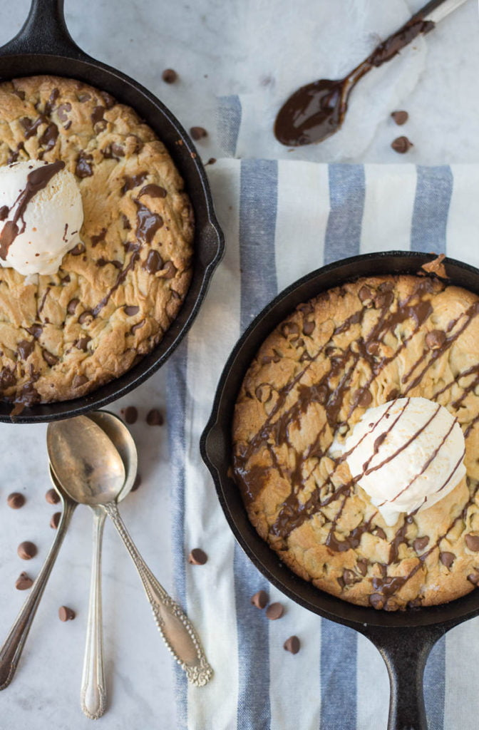 Cast Iron-Deep Dish Chocolate Chip Cookie
