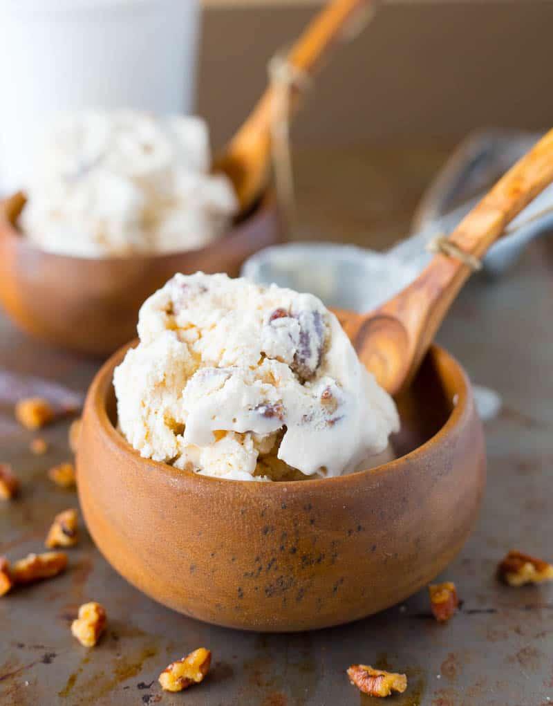 Homemade Butter Pecan Ice Cream Recipe