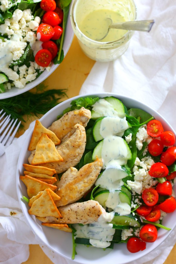 Chicken Gyro Kale Salad