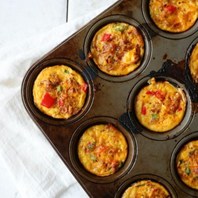 Bacon Cheddar and Chive Mini Quiche
