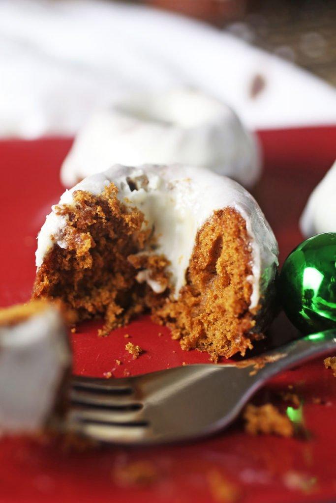 Mini Gingerbread Bundt Cakes