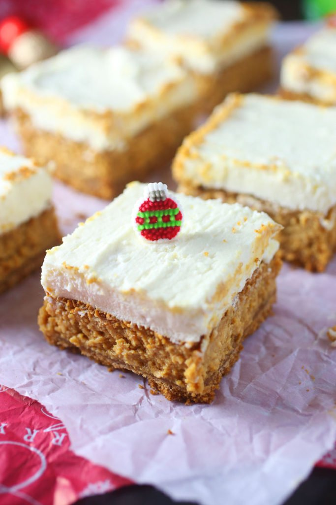 Gingerbread Cheesecake Squares Recipe