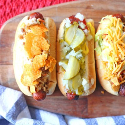 Hot Dog Bar Ideas with Nathan's Hot Dogs & Snapple