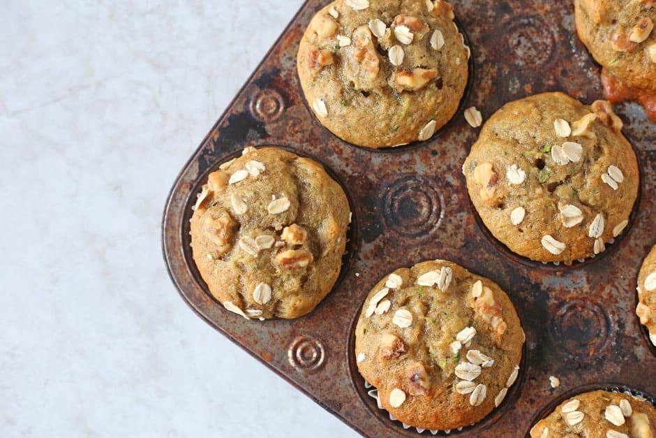 Banana and Zucchini Muffins recipe