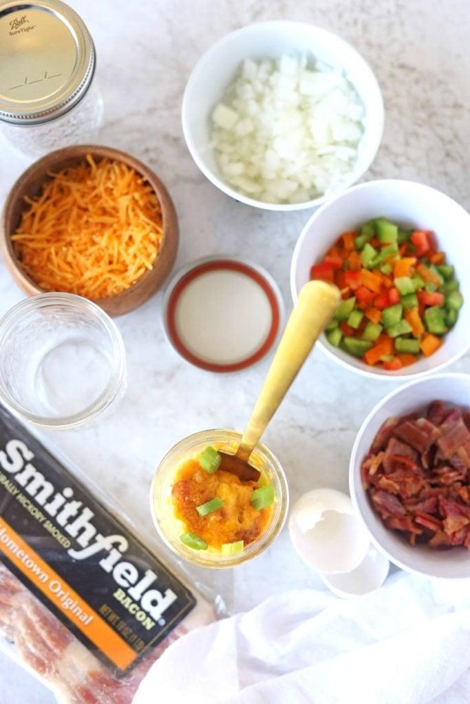 Meal -Prep Mason Jars Omelettes