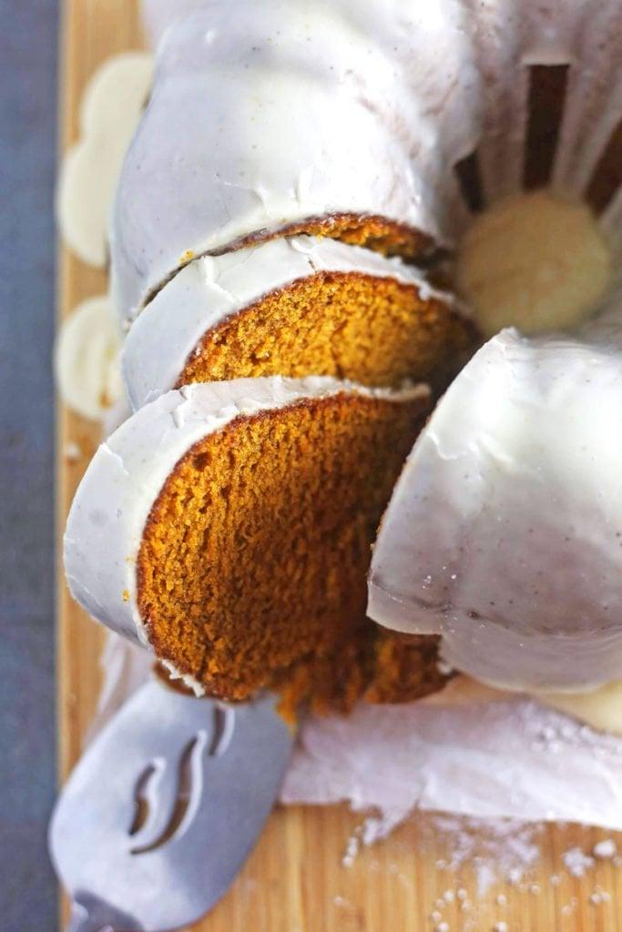 Moist Pumpkin Cake Recipe with Brown Butter Glaze