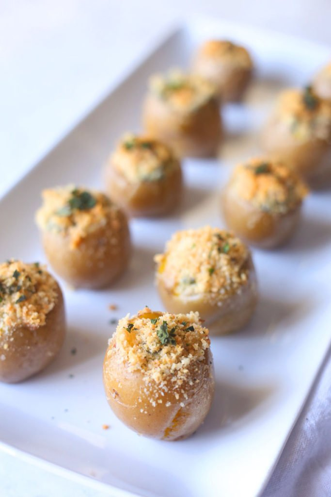 a plate of spinach and artichoke bites