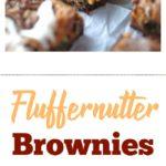Fluffernutter Brownies on wax paper