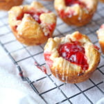 Cream Cheese and Cherry Turnover Recipe on a cooling rack