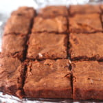 Tray of easy brownie recipe