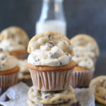 Chocolate Chip Cupcakes with Chocolate Chip Buttercream