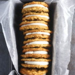 a stack of oatmeal cream pies