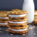 Homemade Oatmeal Cream Pies stacked