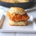Fried Chicken Biscuit Breakfast Sandwich