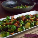 Sautéed Brussel Sprouts with Bacon and Dried Cranberries