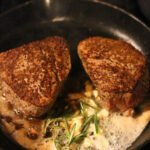 Steak with Creamy Shrimp and Crab (Surf and Turf)