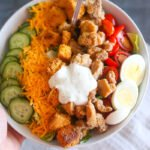 Buttermilk Fried Chicken Salad with Cornbread Croutons