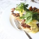 Philly Cheese Steak and Eggs Benedict on a plate