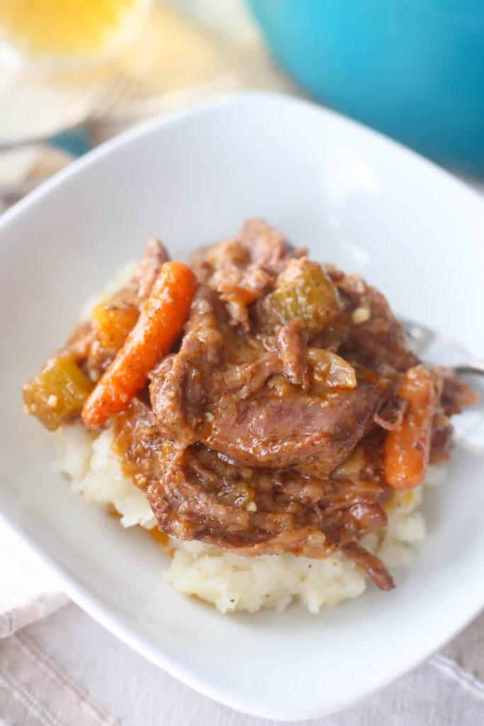 Pot Roast with Gravy Recipe in a bowl